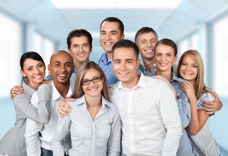 Üzleti, emberek, csoport, emberek.