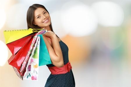 Winkelen, Vrouwen, Mode. Stockfoto