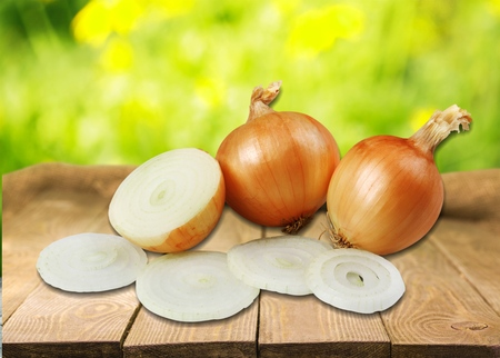 a portion: Onion, Vegetable, Portion.