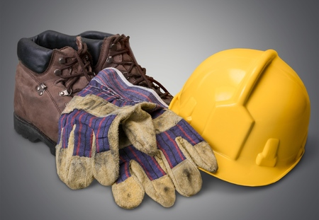 steel toe boots: Safety Equipment, Work Boot, Hardhat.