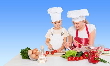 kids meal: Mom, kid, child.