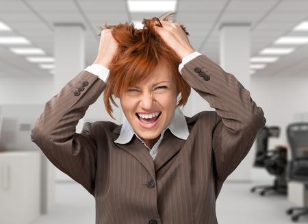 expressing negativity: Women, Business, Frustration. Stock Photo