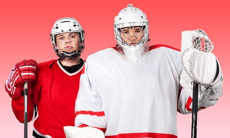 only two people: Ice Hockey, Roller Hockey, Teenager.