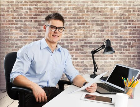 casual business: Casual, business, portrait. Stock Photo