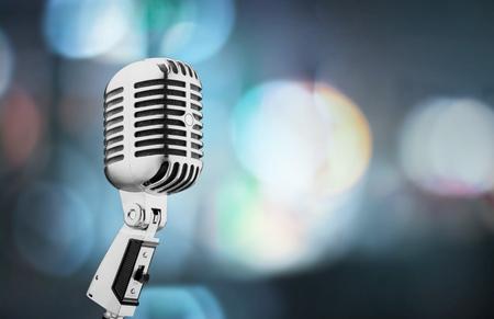 estudio de grabacion: Micrófono, viejo, Retro. Foto de archivo