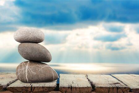 objects: Three Objects, Stone, Rock. Stock Photo