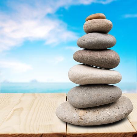 pebbles: Stone, Pebble, Rock. Stock Photo