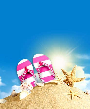 sandal: Flip-flop, Sandalia, Rosa. Foto de archivo