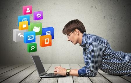pakistani ethnicity: Laptop, Men, Internet.