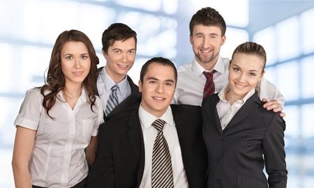 business leadership: Business, People, Team. Stock Photo