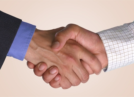 handshake: Apret�n de manos, negocios, Confianza. Foto de archivo