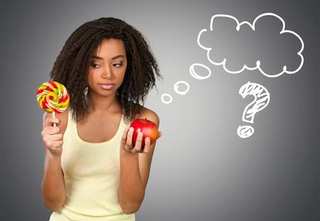 라이프 스타일: 건강한 식생활, 사탕, 건강 한 라이프 스타일. 스톡 콘텐츠