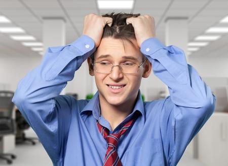 lamentation: Frustration, Men, Businessman. Stock Photo
