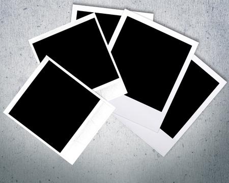white polaroids: Polaroid, design, layout.
