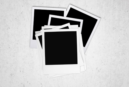 white polaroids: Polaroid, design, layout.