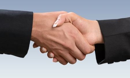 built structure: Business, Handshake, Built Structure. Stock Photo