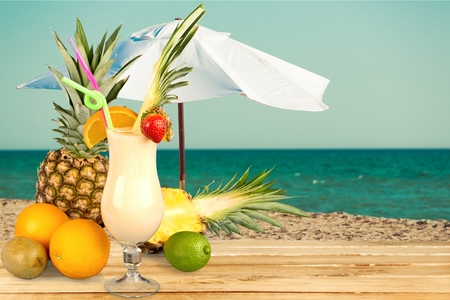 colada: Cocktail, Pina Colada, Pineapple.