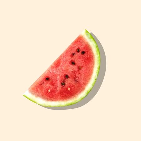 portion: Watermelon, Fruit, Portion. Stock Photo