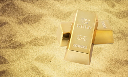 ingot: Gold, Ingot, Wealth. Stock Photo