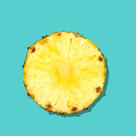 a portion: Pineapple, Portion, Cross Section.