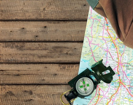 bad planning: Camping, Hiking, Compass.