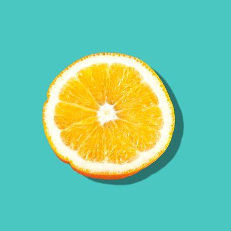 a portion: Orange, Portion, Fruit.