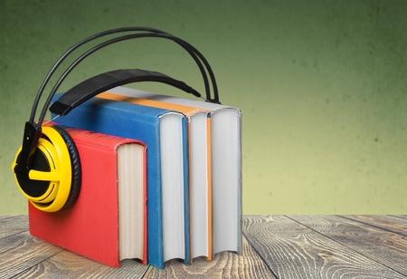 audio equipment: Book, Audio Equipment, Sound. Stock Photo