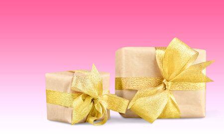 christmas gift: Gift, Christmas, Gold.
