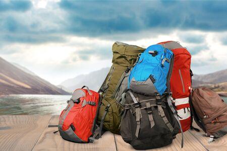 mochila de viaje: Viajes, Mochila, Equipaje. Foto de archivo