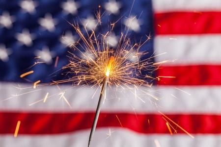 american flag fireworks: Fourth of July, Sparkler, Pyrotechnics.