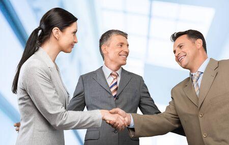 congratulating: Agreement, body, business.