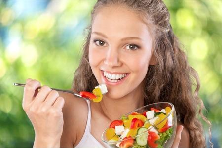 erwachsene: Essen, Frauen, Gesundes Essen. Lizenzfreie Bilder