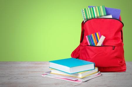 School, tas, rugzak. Stockfoto