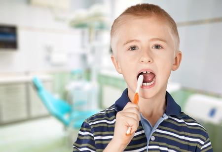 hygiene: Dental Hygiene, Human Teeth, Child. Stock Photo