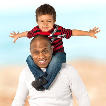 grandkid: Father, Family, Son. Stock Photo