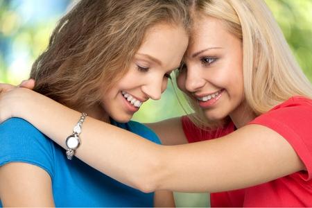homosexual: Lesbian, Homosexual Couple, Couple. Stock Photo