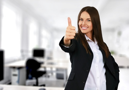 Women, Smiling, Thumbs Up.