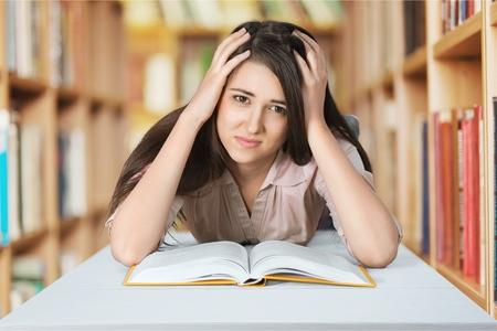 confundido: Estudiante, Confusión, Examen.