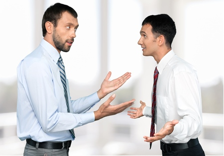 displeased businessman: Arguing, Conflict, Business.