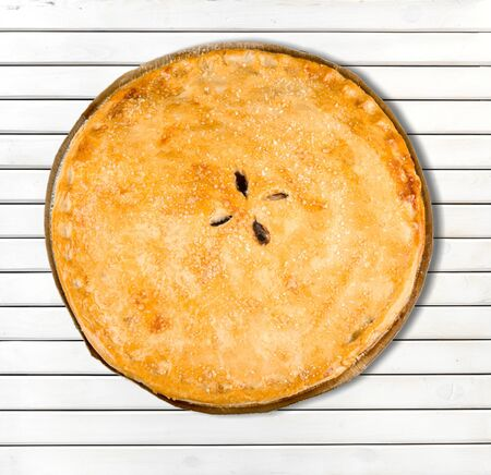 pastry crust: Pie, Pastry Crust, Cherry Pie. Stock Photo