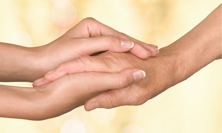 hand care: Care, home, hand. Stock Photo