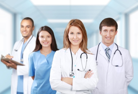 Médico, equipo, estudiantes. Foto de archivo - 42052122
