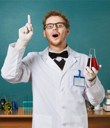 qu�mica: El profesor, cient�fico, qu�mica. Foto de archivo