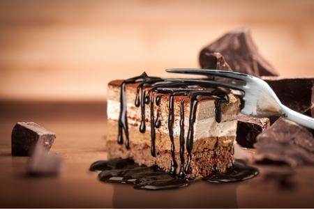 케이크, 초콜릿 케이크, 초콜릿.