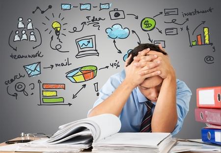 感情的なストレスは、仕事、職業。 写真素材