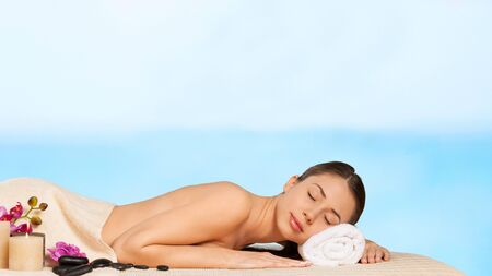 sexual chakra: Spa, woman, relaxing.