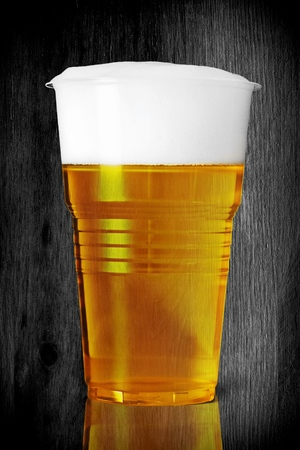 unbreakable: Beer, cup, plastic. Stock Photo