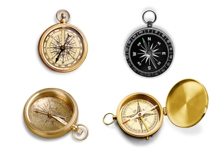 compass: Compass, Old, Marine Compass. Stock Photo