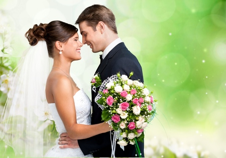 婚禮: 新人 版權商用圖片