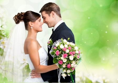 spouse: Wedding couple Stock Photo